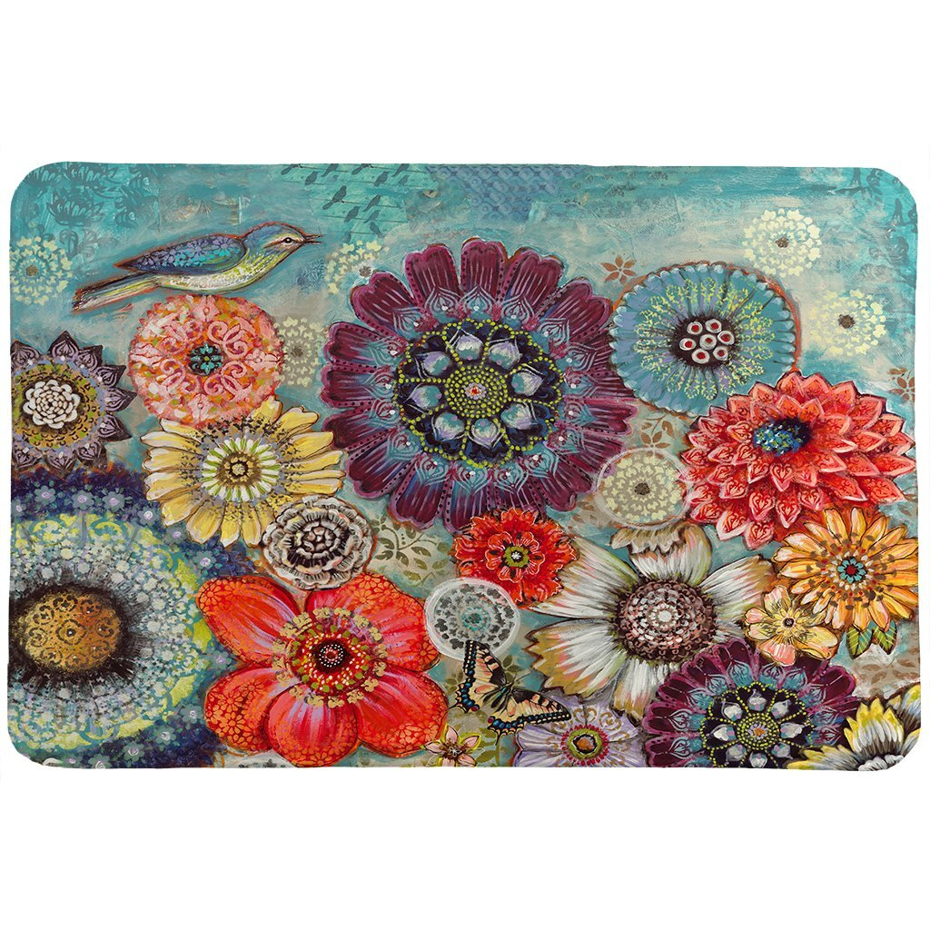 Bungalow Rose Swigert Bird Boho Bath Mat Wayfair