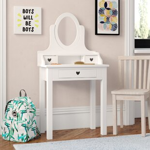 Aldridge Dressing Table With Mirror By Harriet Bee