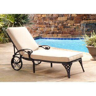 Ayleen Chaise Lounge with Cushion by August Grove