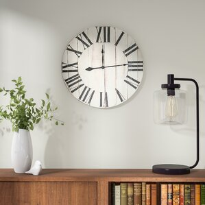 philip rustic roman white extra large wall clock