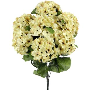 7 Stems Artificial Full Blooming Stain Hydrangea