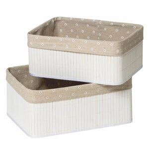 2-tlg. Boxen-Set Kayo aus Bambus von Castleton Home