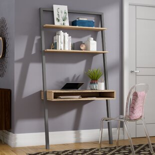 Theophanes Solid Wood Leaning/Ladder Desk by Mercury Row