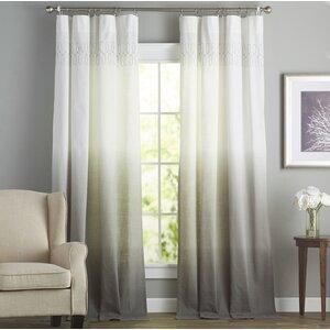 Arashi Solid Room Darkening Rod Pocket Single Curtain Panel