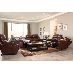 Patton Leather Reclining Loveseat by Catnapper