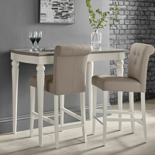 Osvaldo Dining Set with 2 Chairs August Grove Colour: Soft