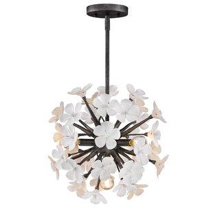 Everly Quinn Adames 4-Light Globe Chandel..
