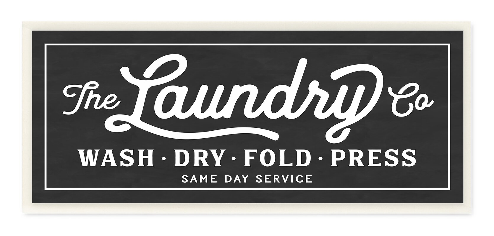 Vintage Laundry Sign Textual Art On Wrapped Canvas