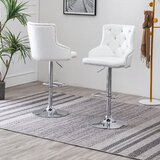 Lachine Swivel Adjustable Height Bar Stool (Set of 2) by Rosdorf Park