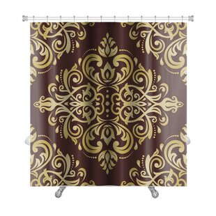 Delta Damask Ornament Fine Traditional Oriental Pattern Premium Single Shower Curtain