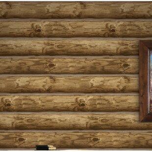 Log Cabin Wallpaper Wayfair