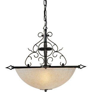 Fleur De Lis Living Bothwell Bowl Pendant in Bordeaux