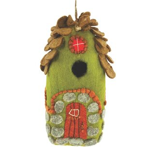 Global Crafts Forest Felt 9.5 in x 4 in x 4 in Birdhouse