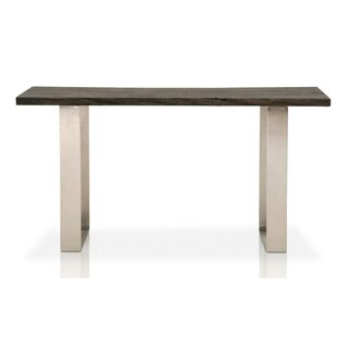 Naomi Wood Top Oak Console Table By Foundry Select