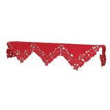 LED Lighted Embroidered Holiday Angels Lace Mantel Scarf
