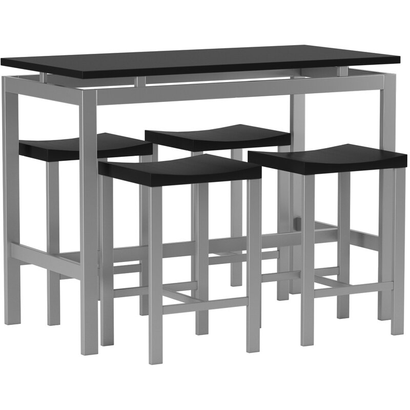 Swigart 5 Piece Pub Table Set  sc 1 st  Wayfair : 5 piece black pub table set - Pezcame.Com