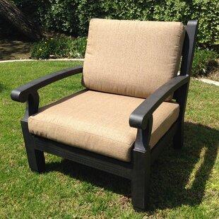 California Outdoor Designs Manhattan Deep Seating Club Chair with Cushion (Set of 2)