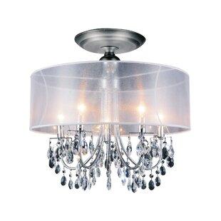 5-Light LED Semi Flush Mount by CWI Lighting