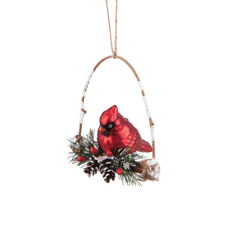 Cardinal Swing Hanging Figurine Ornament Reviews Birch Lane
