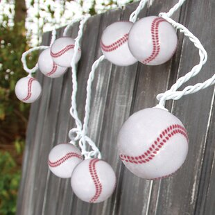 DEI 10-Light 8.5 ft. Baseball String Lights