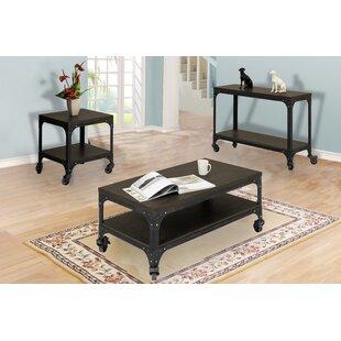 Williston Forge Burbank 3 Piece Coffee Table Set