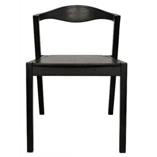 Mara Solid Wood Dining Chair Noir