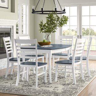 Loïc 7 Piece Extendable Solid Wood Dining Set