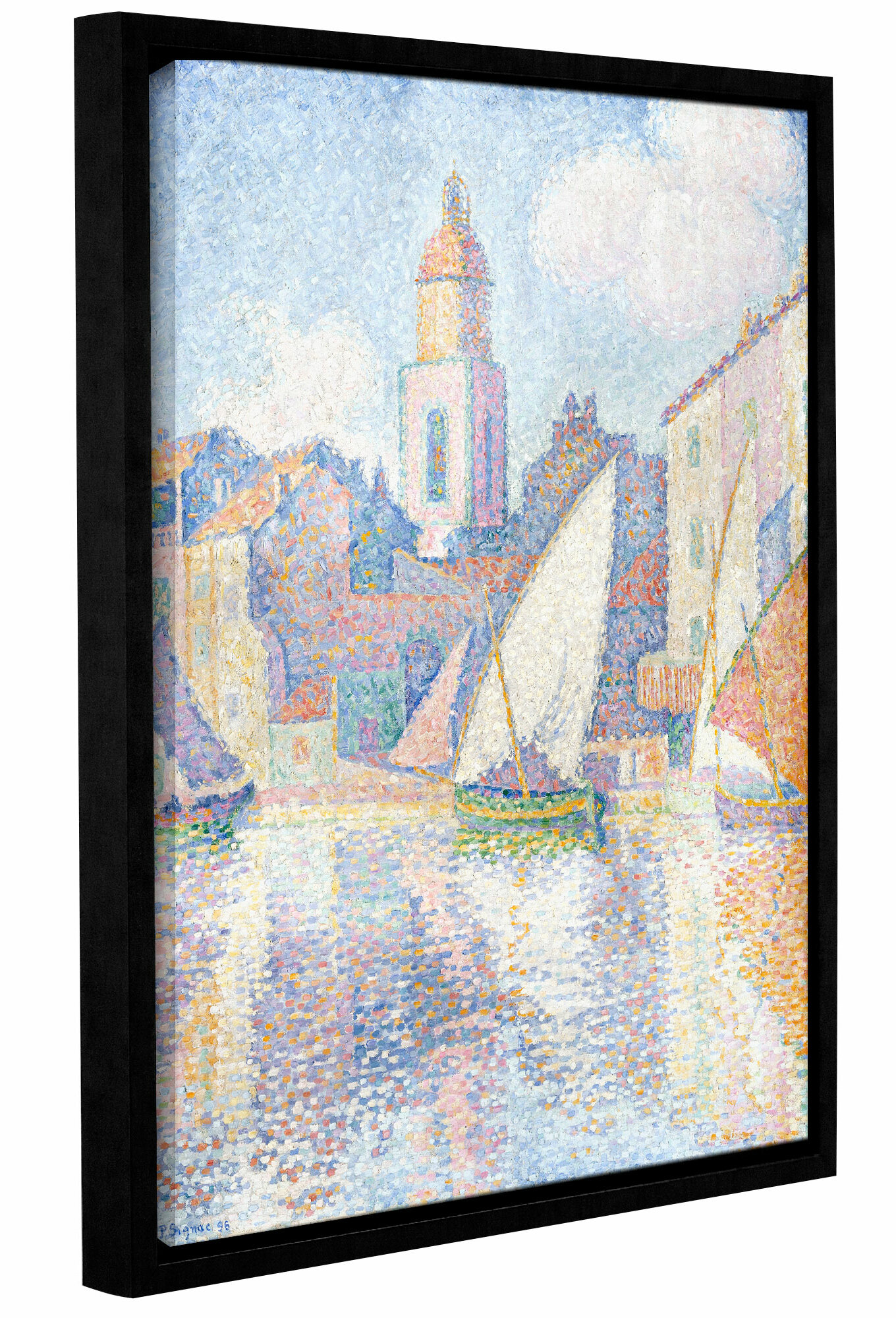 Vault W Artwork Bell Tower At Saint Tropez 1896 By Paul Signac Framed Painting Print On Wrapped Canvas Wayfair