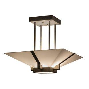 Meyda Tiffany Grayling 2-Light Semi Flush Mount