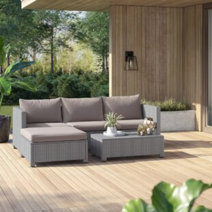 Lachesis 5 Piece Sectional Seating Group with Cushions