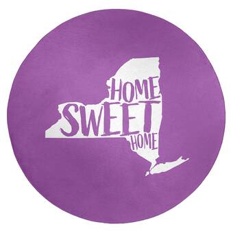 East Urban Home Montgomery Alabama Poly Chenille Rug Wayfair