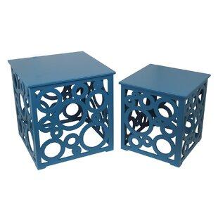 Latitude Run Aaron 2 Piece Cut Out Nesting Tables