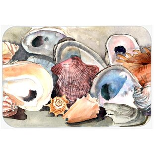 Sea Shells Glass Cutting Board By Caroline's Treasures