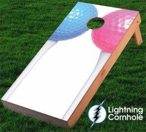 Lightning Cornhole Couples Golf Cornhole Board