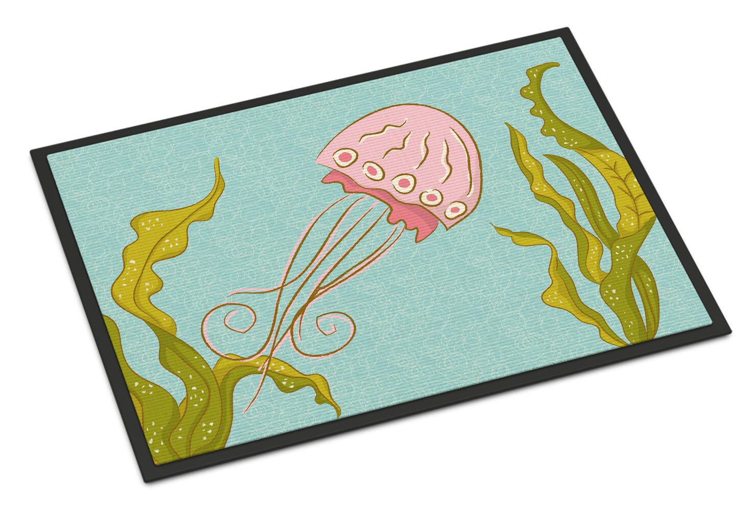 East Urban Home Jelly Fish Non Slip Outdoor Door Mat Wayfair
