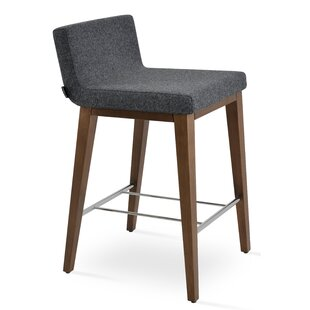 Harlowe Wood 24 Bar Stool by Comm Office 2019 Sale