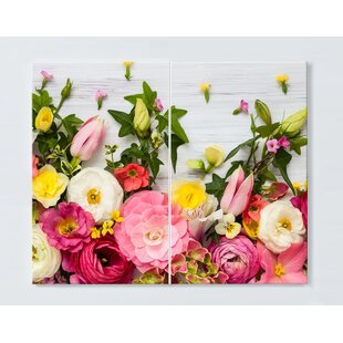 Floral Motif Magnetic Wall Mounted Cork Board By Ebern Designs