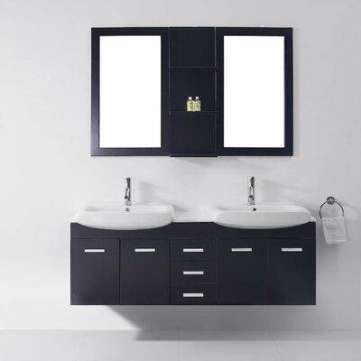"virtu usa ultra modern series 59"" double bathroom vanity set with"