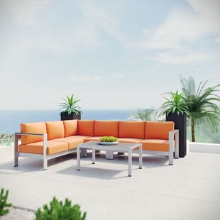 Orren Ellis Coline 5 Piece Sectional Set with Cushions