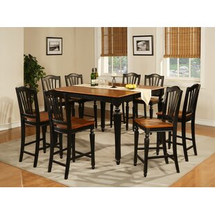 Darby Home Co Ashworth 9 Piece Counter Height Pub Table Set