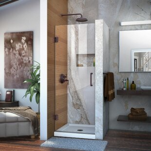 Unidoor 25 x 72 Hinged Frameless Shower Door with ClearMax? Technology by DreamLine