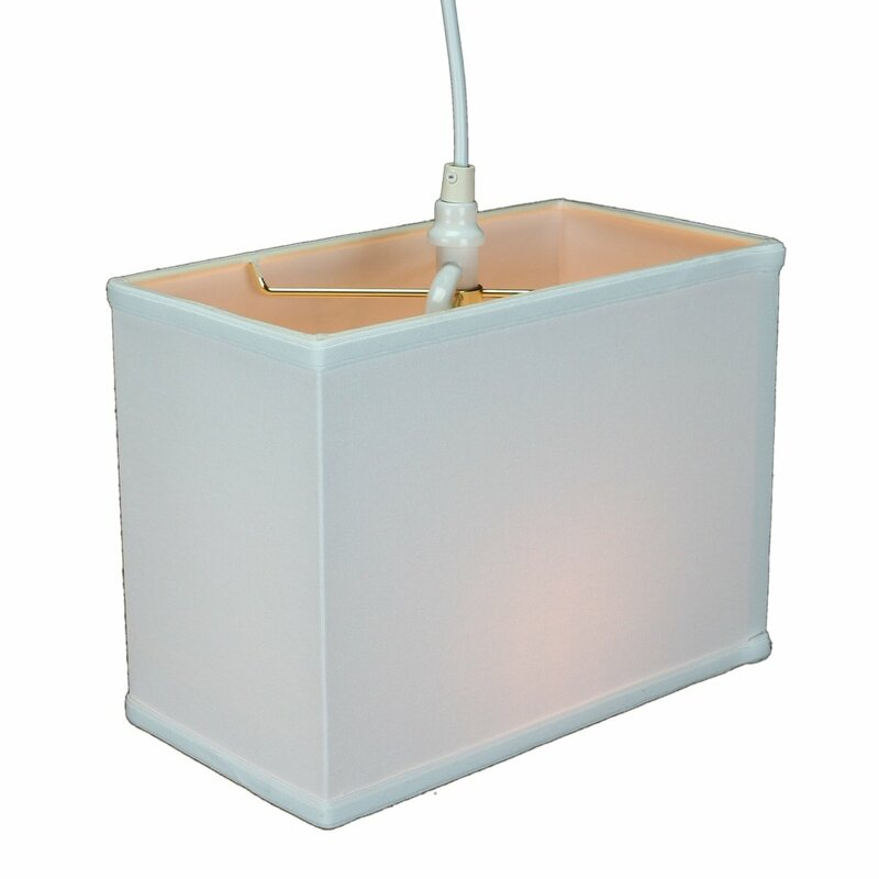 Latitude Run Dov 1-Light Single Rectangle Pendant