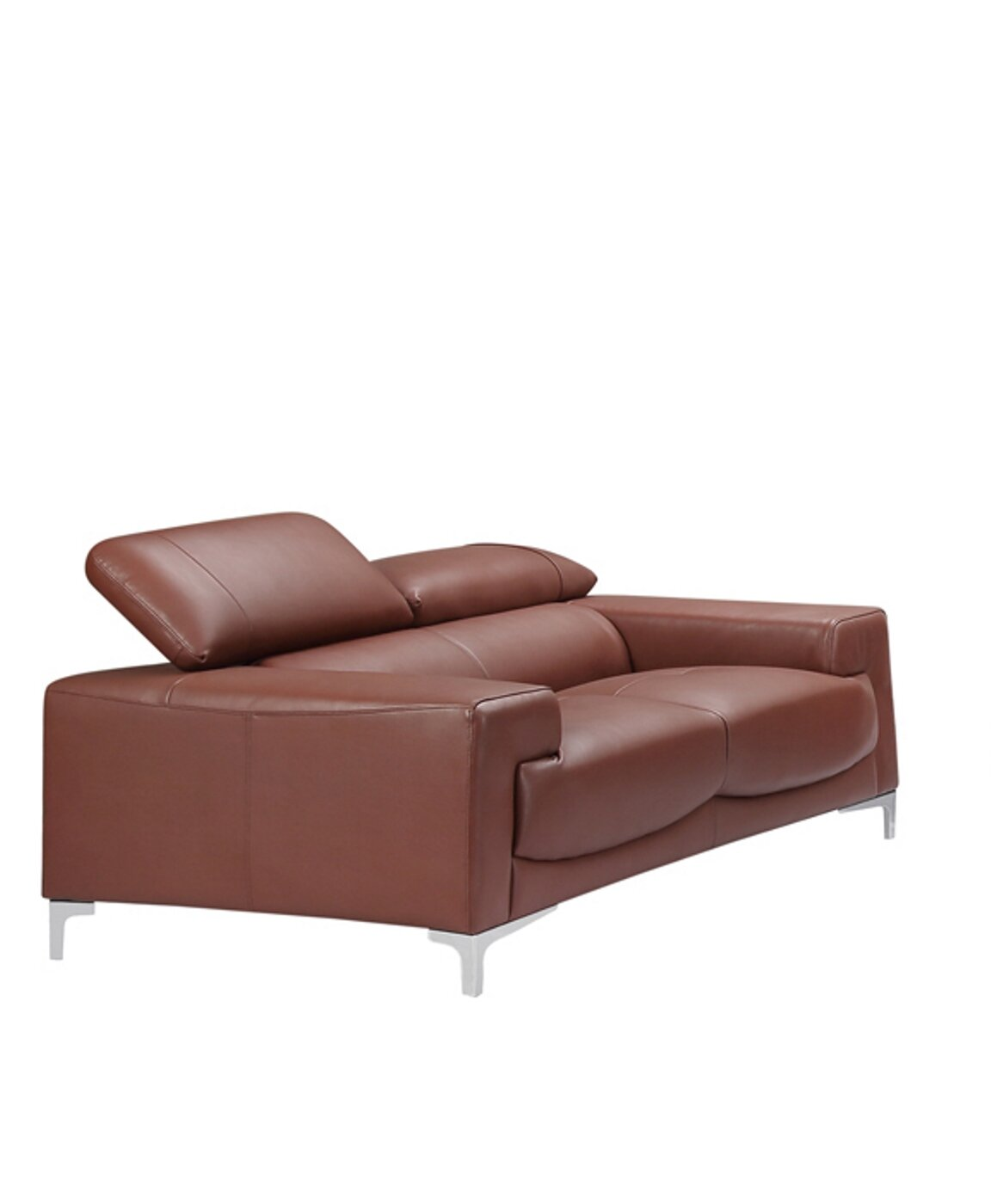 Stupendous Tipton Modern Saddle Leather Loveseat Gmtry Best Dining Table And Chair Ideas Images Gmtryco
