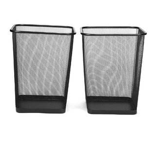 Mind Reader Recycling Square Waste Basket (Set of 2)