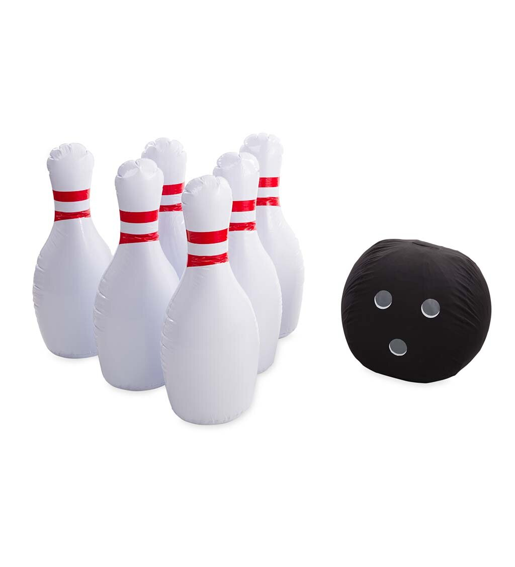 Fun Giant Game for Kids Outdoor Yard /& Lawn Bowling Set For Kids Adults /& Family Birthday /& Party Games for Kids Indoor Jumbo Inflatable Bowling Set by Flop Games Include a Foot Pump