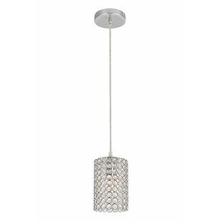 Orren Ellis Clarke Traditional 1-Light Crystal Pendant