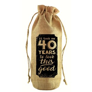 To Look This Good Jute Wine Bottle Sack