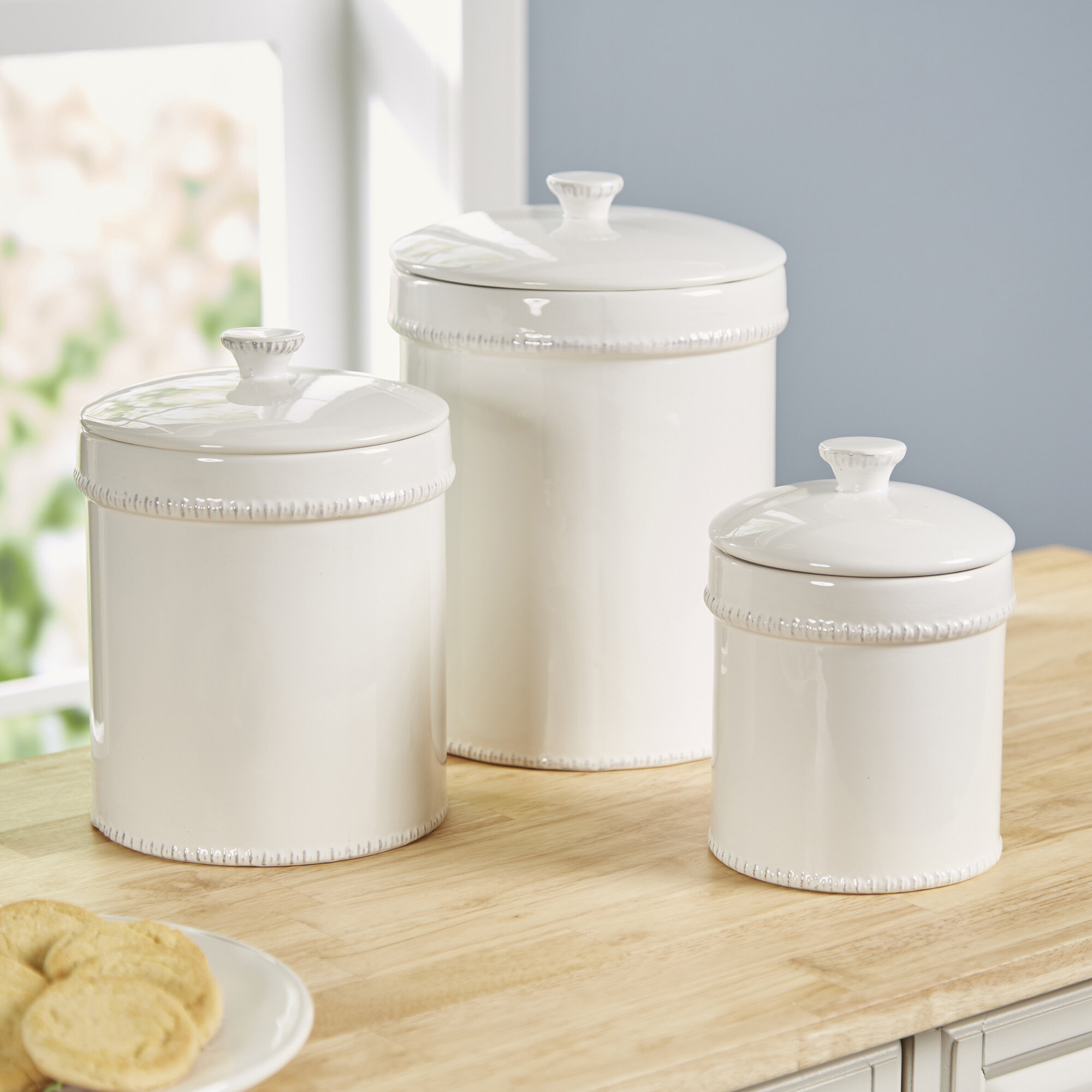 Bianca 3 Piece Kitchen Canister Set