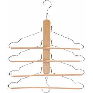 Look for Berumen 4 Tier Wood Hanger (Set of 2) By Rebrilliant
