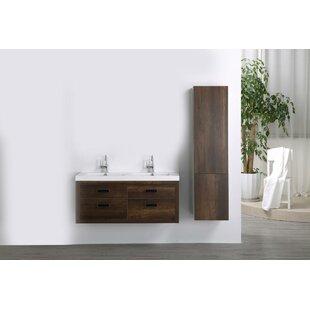 47 Wall Mounted Double Bathroom Vanity Set